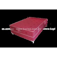 BASE C/COLCHON 160X200 STANDARD BORDO